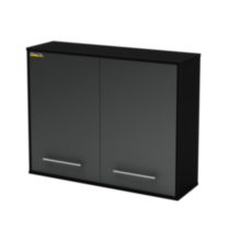 South Shore Karbon Wall Storage Cabinet Pure Black, Model # 5227972