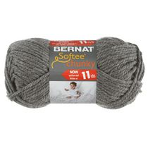 Bernat Softee Chunky Yarn True Grey