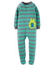 Child of Mine by Carter's Infant Boys' 1-Piece Frog Fleece Sleeper Pyjamas 12M