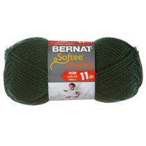 Bernat Softee Chunky Yarn Dark Green