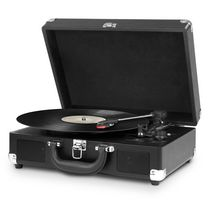 Nostalgique 3-vitesses platine cru turntable portable d'Innovative Technology - ITVS-550