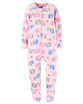 Child of Mine made by Carter's Infant Girl's Elephant Printed Blanket Fleece Pyjama 12M