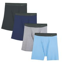 Fruit of the Loom Men's Fabric Waistband Boxer Briefs Pack of 4 L/G