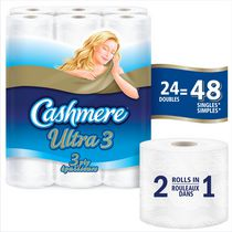 Cashmere Ultra Double Roll 3 Ply Bathroom Tissue Paper