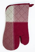 Home Trends, Topstitch oven mitt pair Red