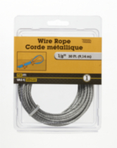 "30'x1/8"" Wire Rope 1 Piece"