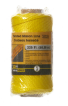 225' Yellow Mason Line Twisted 1 Piece