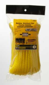 "100'x1/4"" Hollow Braided Poly Rope 2 Pieces"