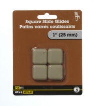 "1"" Square Slide Glide 4 Pieces"