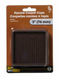 "3"" Square Carpet Cup 2 Pieces"