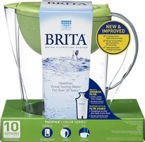 Brita® Pacifica Water Filtration Pitcher, Green, 10 Cup