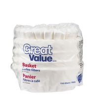 Great Value Basket Coffee Filters