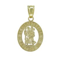 Breloque st Christopher en or, 10 ct - jaune
