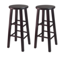"Winsome Trading Inc. Set of 2, 30"" Bar Stool, Square Legs"