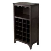 92729- Ancona Modular Wine Cabinet with Glass Rack & 20-Bottle