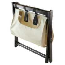 Winsome Trading Inc. Dora Luggage Rack with removable fabric basket