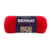 Bernat Super Value Yarn True Red