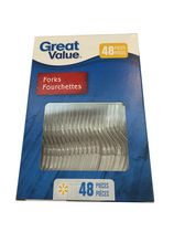 Fourchettes en plastique de Great Value