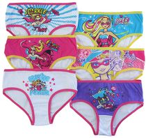 Mattel Girls Barbie 6 Pack Brief 4