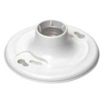 Ceiling Lampholder 600W-600V, in White