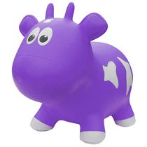 Farm Hoppers Animal Bouncers Cow, Purple
