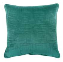 Geo Quilted Cushion French Blue
