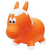 Jouet d'animal Rebondissant de Farm Hoppers - Cheval, orange