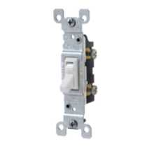 Single Pole Toggle Switch 15A-120V, in White