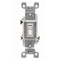 3-Way Toggle Switch 15A-120V, in White