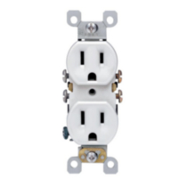 Duplex Receptacle 15A-125V, in White