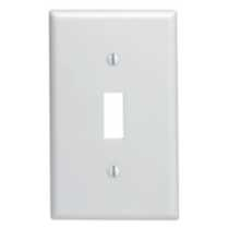1-Gang Toggle Switch Wallplate, in White