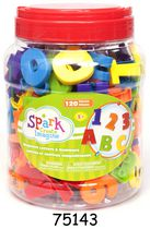 Spark Create Imagine Bucket of Magnetic Letters and Numbers