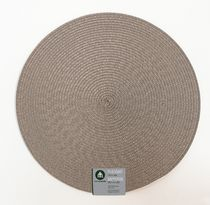 "Home Trends 15"" round woven placemat Taupe"
