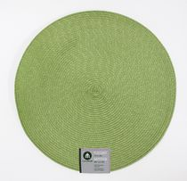 "Home Trends 15"" round woven placemat Green"
