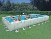 Intex 32 ft X 16 ft X 52 in Rectangular Ultra Frame™ Pool Set.