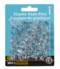 Clear Plastic Push Pins 75 Pieces