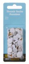 White Thumb Tacks 90 Pieces