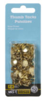 Brass Thumb Tacks 90 Pieces