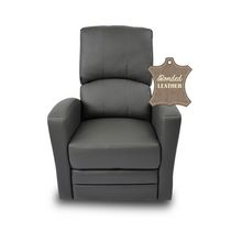 Kidilove Habana Bonded Leather Glider Chair Dark Grey