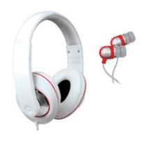DJ Style Headphones and Earbuds - White