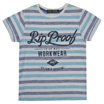 George British Design Boys' Striped Rip Proof T Shirt 7