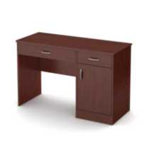 South Shore Smart Basics Small Desk Cherry