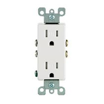 Decora Tamper Resistant Receptacle 15A-125V, in White