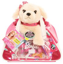 Barbie Vet Bag Set Light Brown Puppy Plush Toy