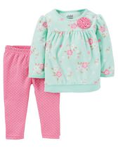 Child of Mine made by Carter's Newborn Girls' Floral 2-Piece Set 6-9M