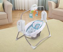 Fisher-Price Twinkling Lights SpaceSaver Baby Cradle 'n Swing