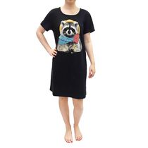 George Ladies' Nightshirt Black Large