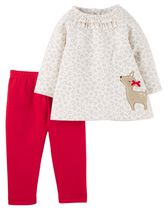 Child of Mine made by Carter's Newborn Girl's Reindeer 2-Piece Outfit Set 24M