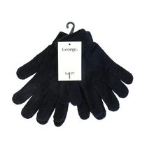 George Ladies' Knit Magic Gloves Black/Black
