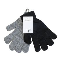 George Ladies' Knit Magic Gloves Black/Grey